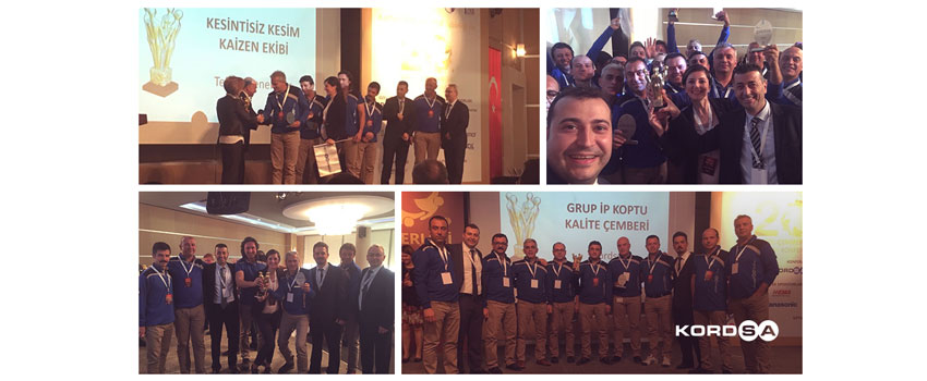 Grand Award Presented to Two Kordsa Teams at the 20th Quality Circles Sharing Conference