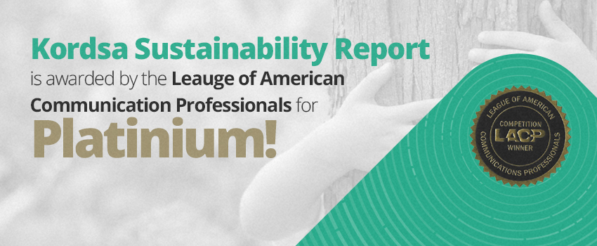 Kordsa Sustainability Report received Platinum Award  by the League of American Communications Professionals