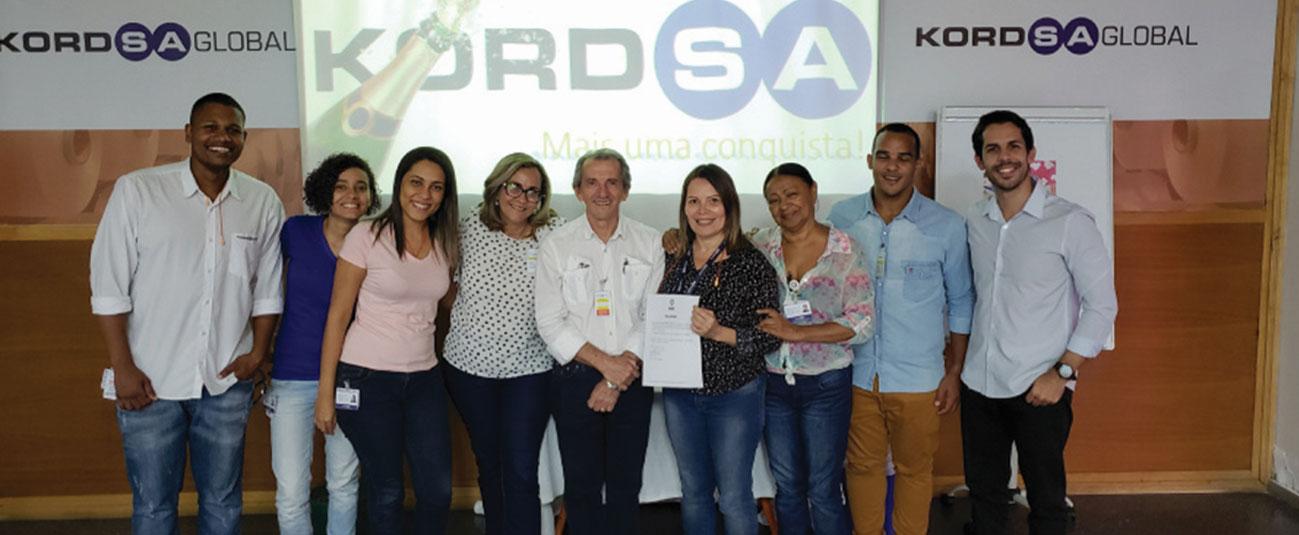 Kordsa Brazil Received ISO 14001: 2015 Environmental Management Systems Certificate