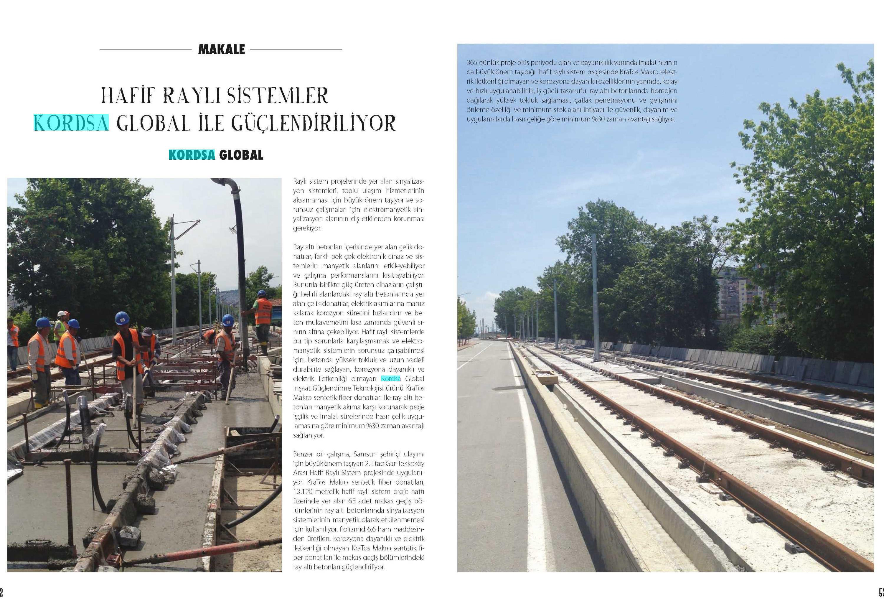 Light Rail Systems are being Reinforced by Kordsa Global