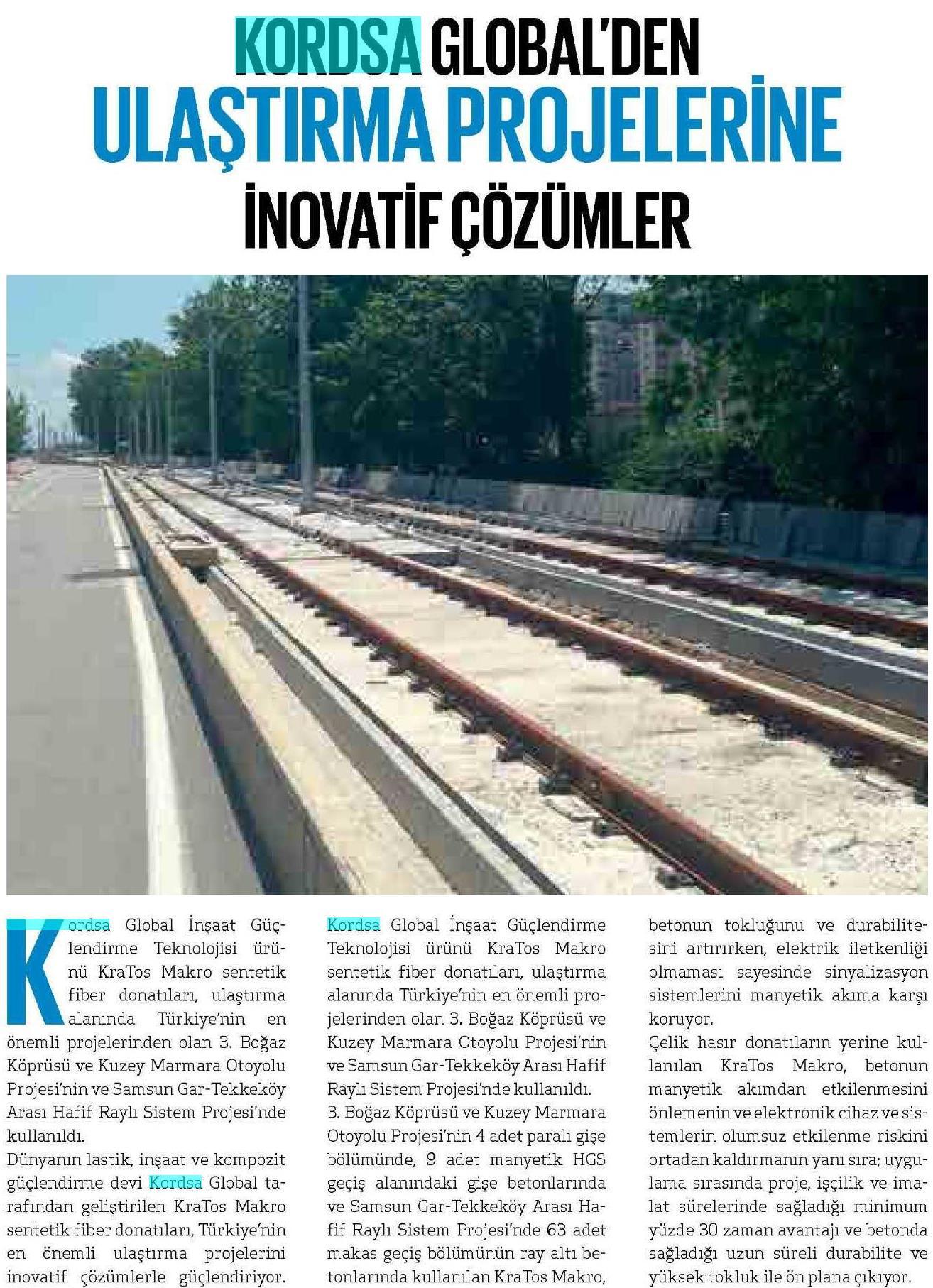 Kordsa Global's Innovative Solutions for Transportation Projects