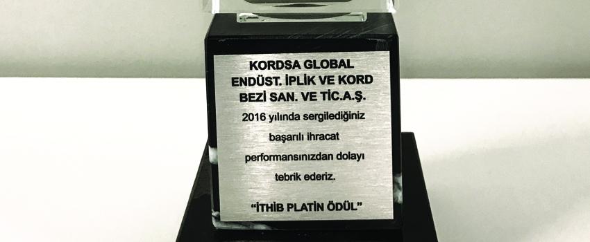 Kordsa Wins Leaders of Export Award